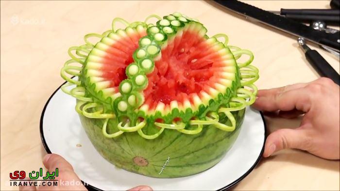 تزیین هندوانه شب یلدا (8)