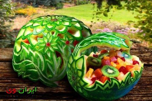 تزیین هندوانه شب یلدا (9)