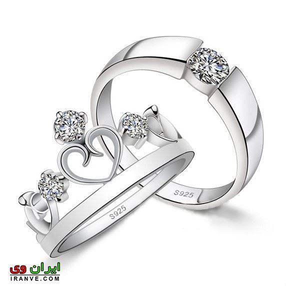 ست حلقه کینگ و کویین برای عروس و داماد متفاوت
