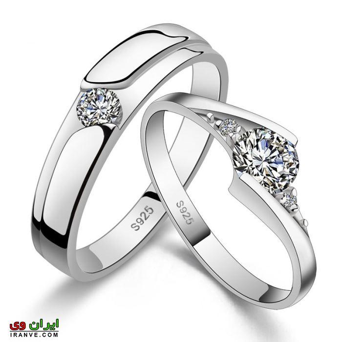 حلقه ازدواج ست طلا با روکش سیلور