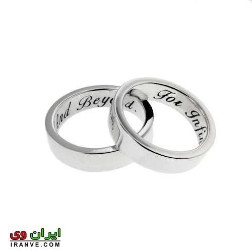 رینگ ساده ازدواج بدون نگین