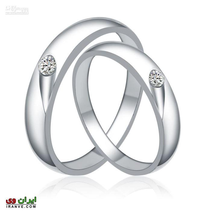 حلقه ازدواج تک نگین برای عروس و داماد