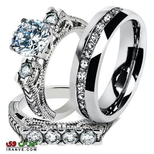 حلقه دارای تراش فوق العاده با نگین های برلیان از بهترین برند های ساخت حلقه دنیا