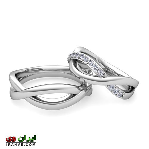 حلقه بسیار شیک ازدواج دارای ست عروس و داماد