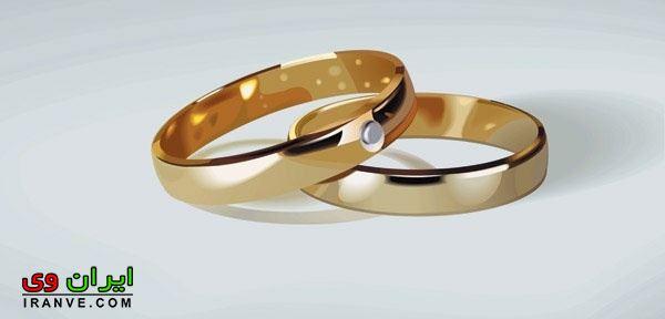 حلقه طلایی رنگ تک نگین