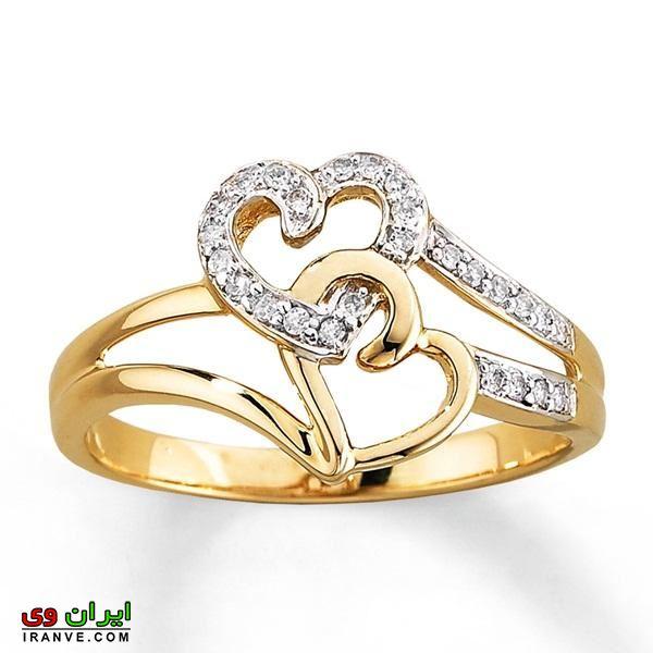 حلقه طلا با نگین برلیان