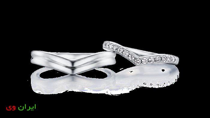 حلقه ازدواج به شکل قلب مدل 2018