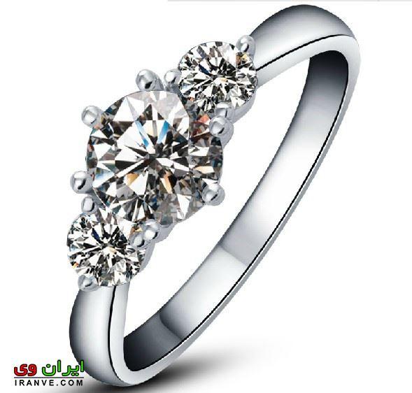 انگشتر عروس گران قیمت با نگینهای فوق العاده