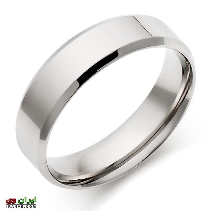 حلقه ازدواج کاملا ساده بدون نگین سیلور