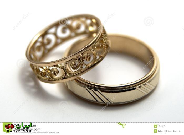 عکس حلقه ازدواج بدون نگین