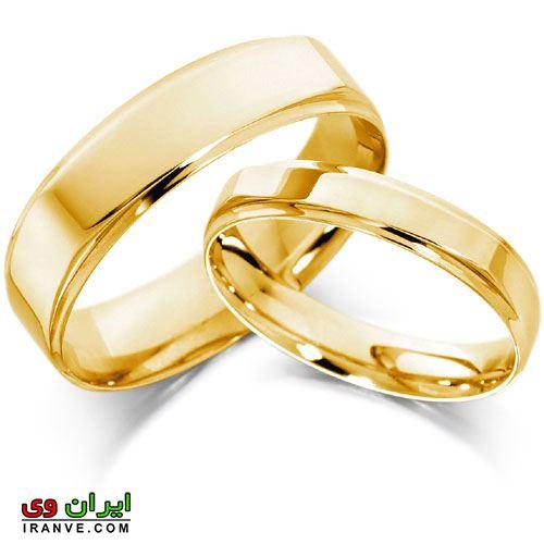 تصاویر حلقه ازدواج طلا ساده بدون نگین کاری