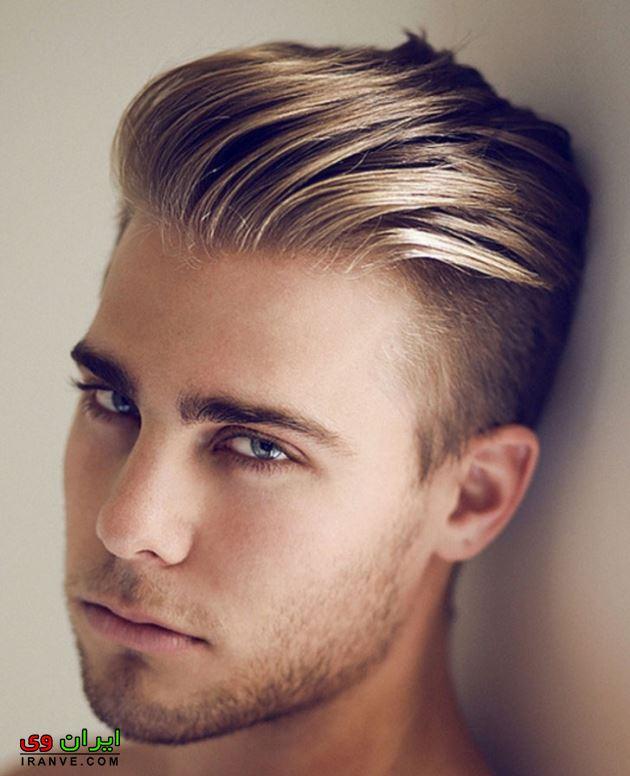 مدل مو پسرانه برای پیشانی بلند