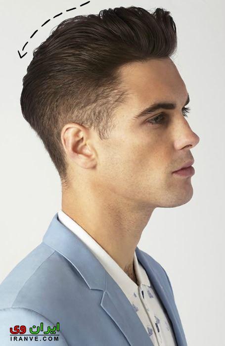 مدل مو پسرانه برای صورت کشیده