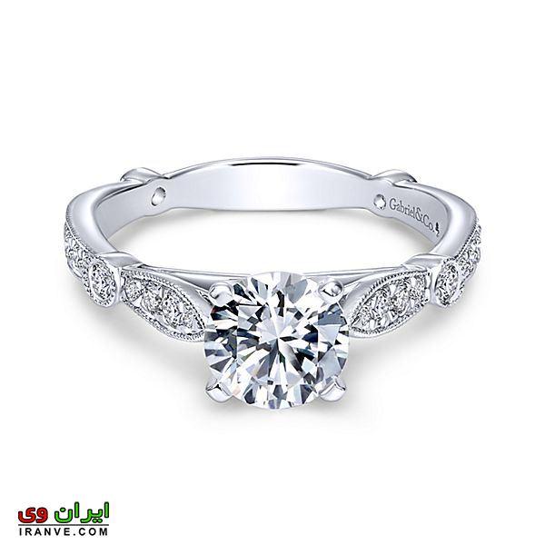 حلقه نامزدی بسیار لاکچری و گران قیمت با تراش های مخصوص سبک سلطنتی