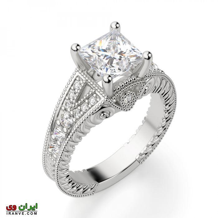 این حلقه دارای نقش و خطوط خاص به سبک سلطنتی است .