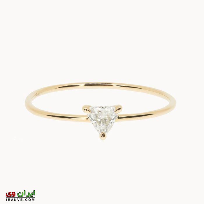 حلقه نامزدی ظریف و باریک برای خانم های با انگشت ظریف