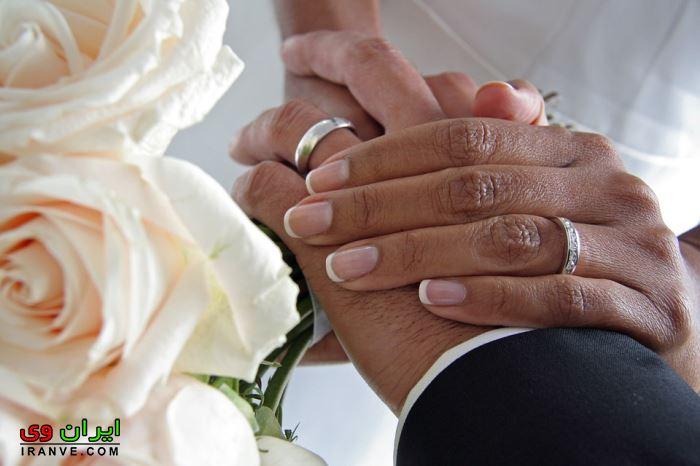 عکس حلقه عروسی در دست