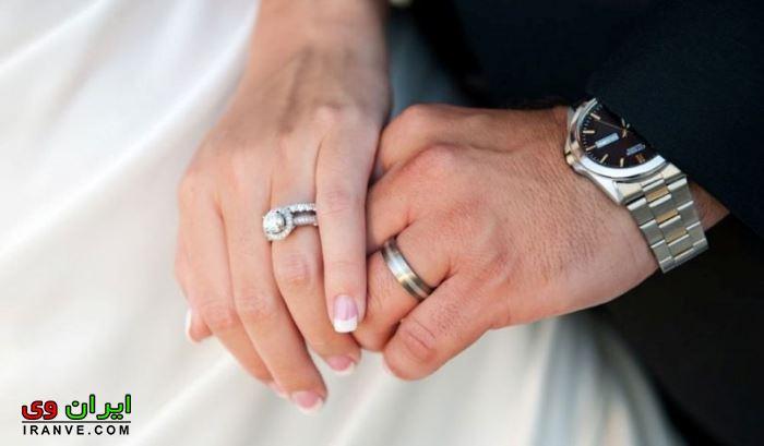 ساعت و حلقه ازدواج عروس و داماد
