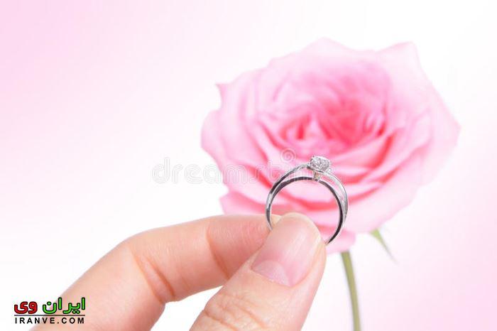 عکس حلقه ازدواج دست