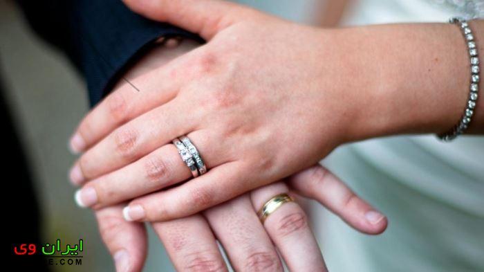 زیباترین حلقه ازدواج عاشقانه در دست