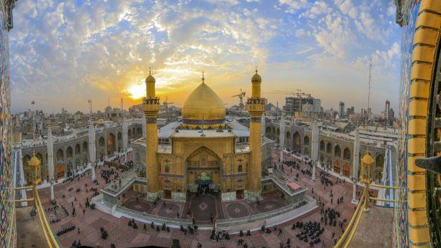 عکس حرم حضرت علی (ع) و ایوان نجف برای استفاده به عنوان پروفایل