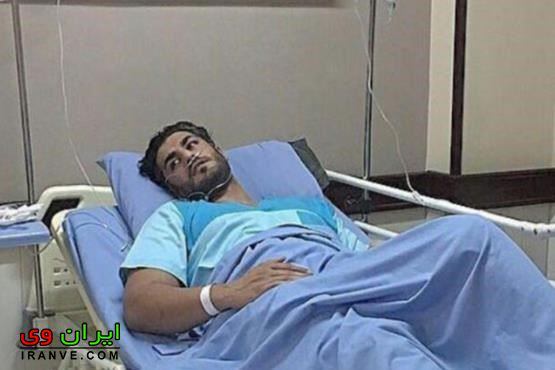 تصویر سکته شهاب مظفری در بیمارستان