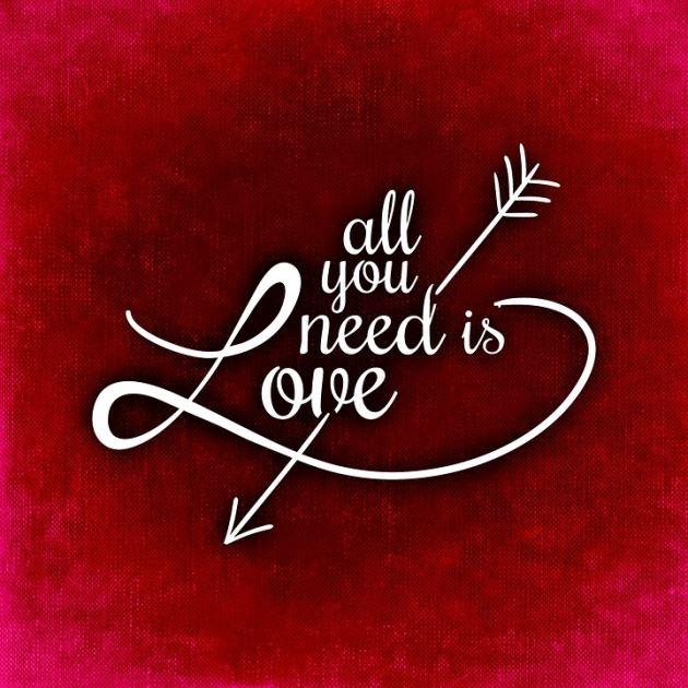 عکس نوشته عاشقانه پروفایل all you need is love