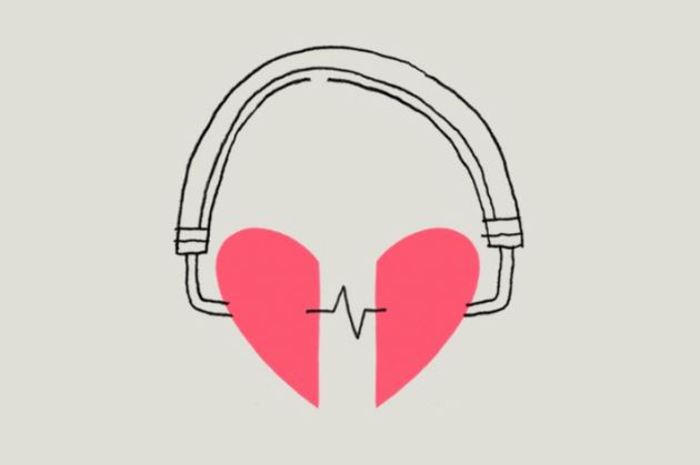 عکس پروفایل عاشقانه قلب با هدفون