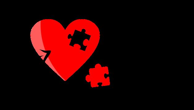 پروفایل عاشقانه قلب پازلی