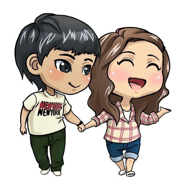 عکس پروفایل عاشقانه دختر و پسر در حال قدم زدن