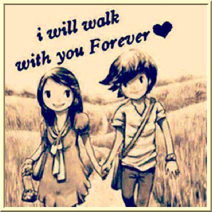 عکس عاشقانه قدم زدن دختر و پسر