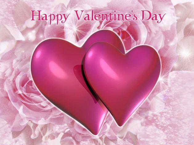پروفایل عاشقانه دو قلب صورتی زیبا برای روز ولنتاین