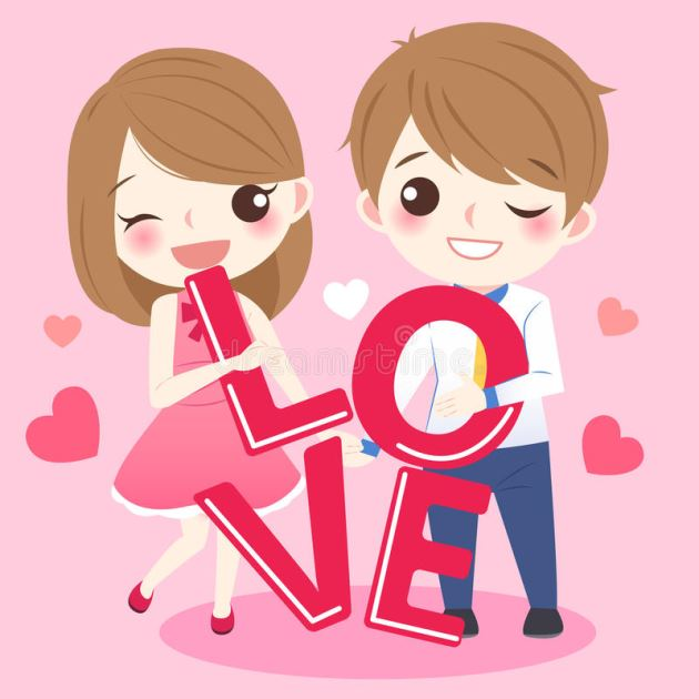 پروفایل عاشقانه دختر و پسر کارتونی
