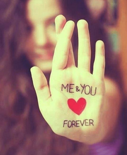 نوشته عاشقانه من و تو تا ابد