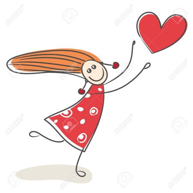 عکس پروفایل عاشقانه دخترونه کارتونی با قلب بادکنکی
