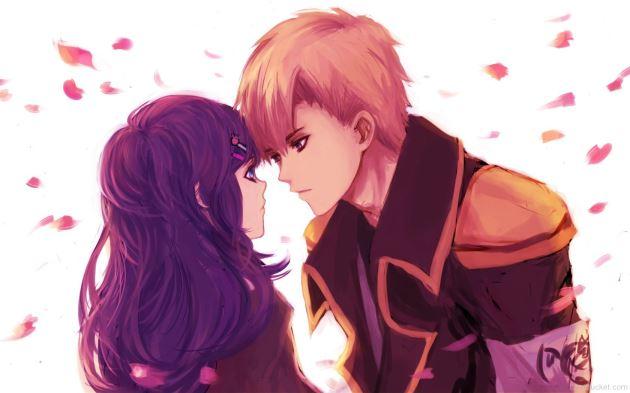 عکس پروفایل عاشقانه کارتونی فیس تو فیس دختر و پسر