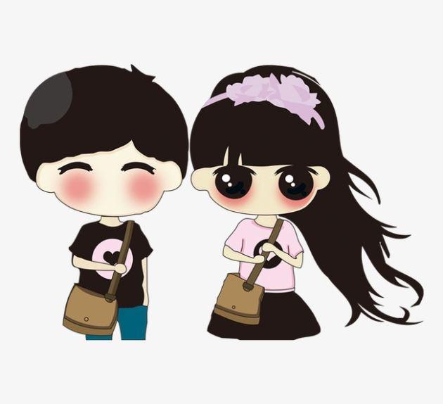 عکس پروفایل عاشقانه دختر و پسر دانشجو کارتونی
