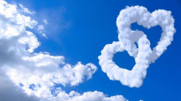 عکس پروفایل عاشقانه ابر به صورت قلب