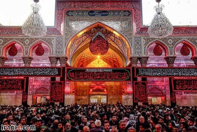 نوشته عکس حرم امام حسین اربعین حسینی واسه پروفایل