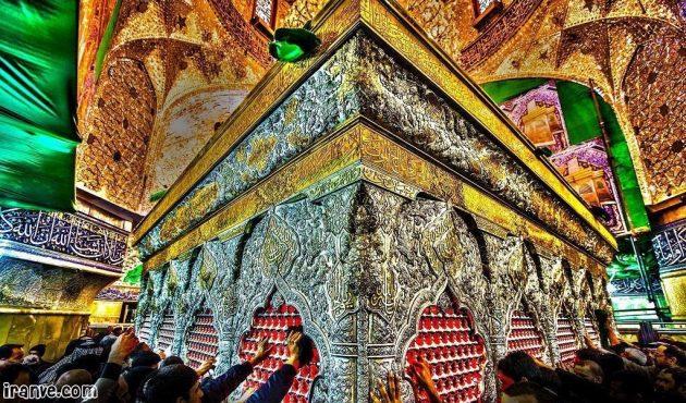 متن عکس حرم امام حسین در شب پروفایل