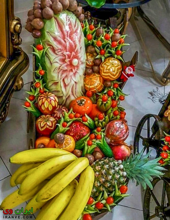 تزیین میوه شب یلدا جدید