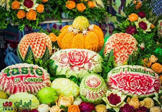 تزیین میوه مخصوص شب یلدا