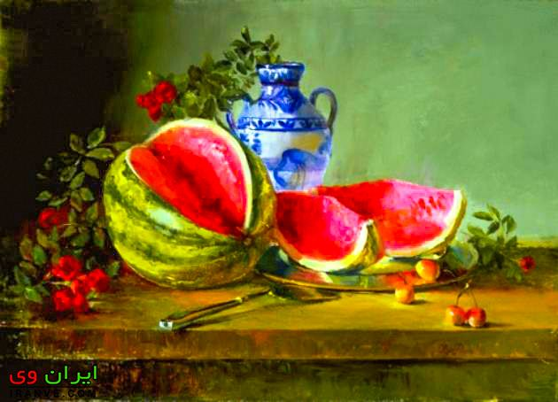 عکس تزیین هندوانه شب یلدا , هندوانه برای یلدا