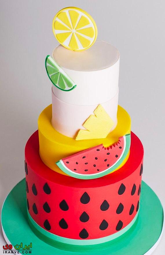 شیکترین کیک یلدا قرمز , کیک شب یلدا آسان