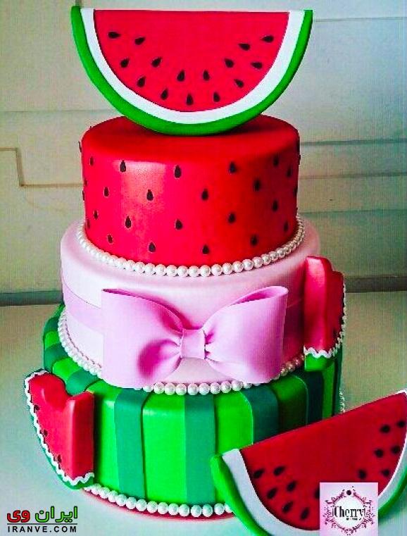 کیک یلدا تبریک به عشقم , کیک شب یلدا قرمز