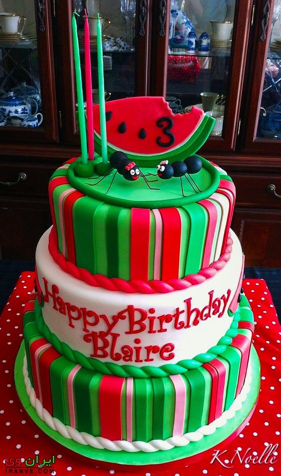 کیک یلدا هندوانه ای , عکس کیک شب یلدا بسیار زیبا