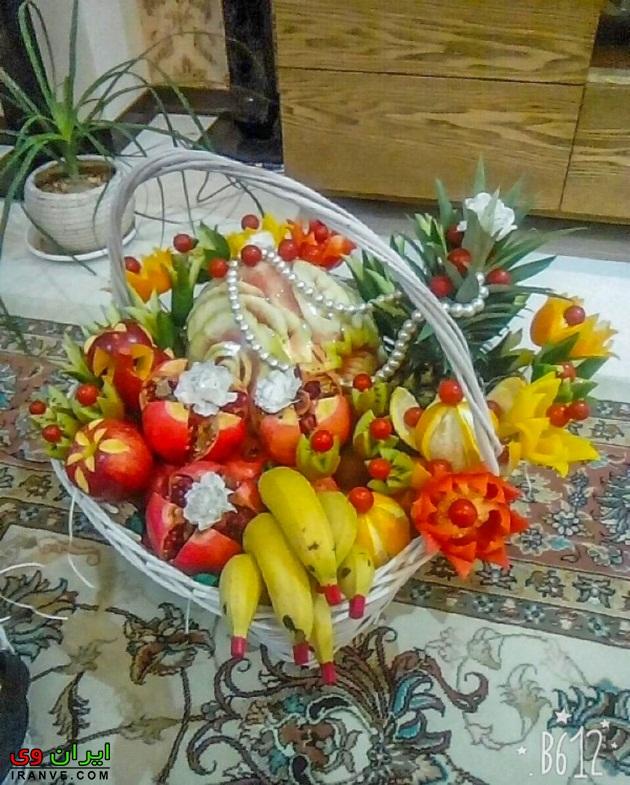 تزیین میوه برای شب یلدا , تزیین شب یلدا