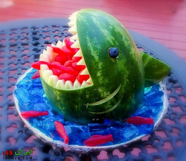 هندوانه شب یلدا , تزیین شب یلدا