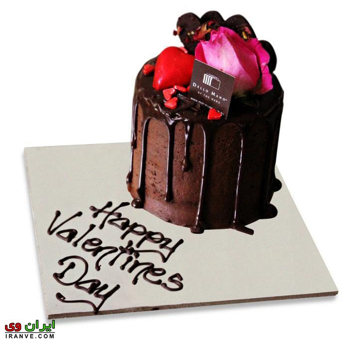 کیک شکلاتی ولنتاین دونفره