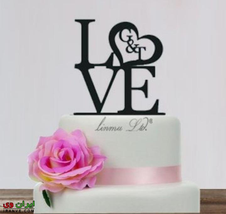 عکس کیک ولنتاین سفید ساده عاشقانه